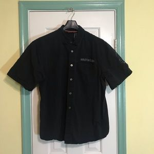 Harley Davidson Black Button down Short Sleeve XL